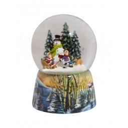 Snow globe build a snowman
