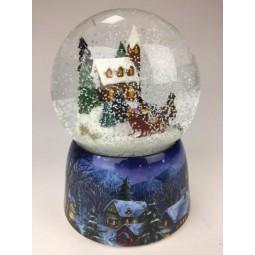 Snow globe horse sleigh ride