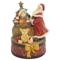 Music box Santa with child