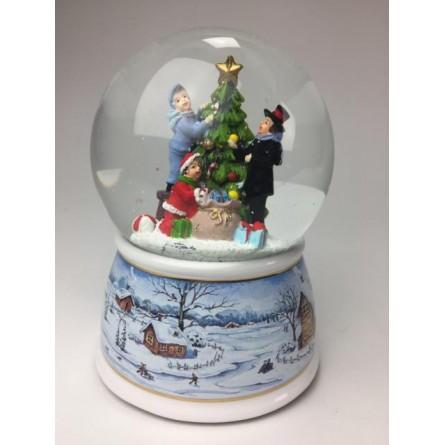 Snow globe decorate the Christmas tree