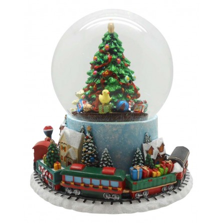 Snow globe with train
