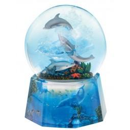 Glitter globe dolphin