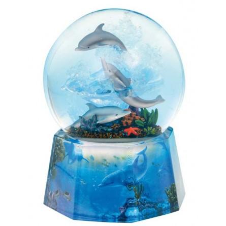 Dolphin glitter globe