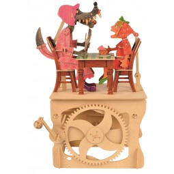 "Wooden edgy construction kit ""Little Red Riding Hood """