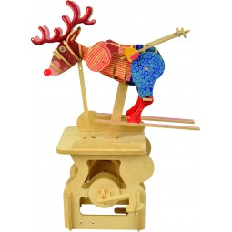"Wooden edgy construction kit ""Sliding Deer """