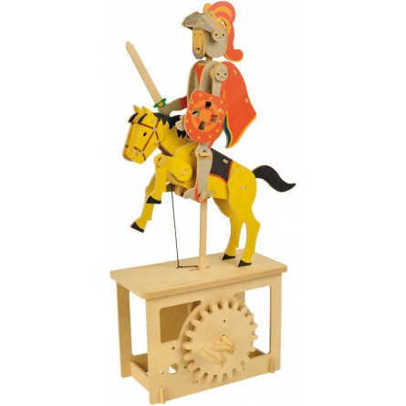 """Wooden edgy construction kit """"Red Knight """""""