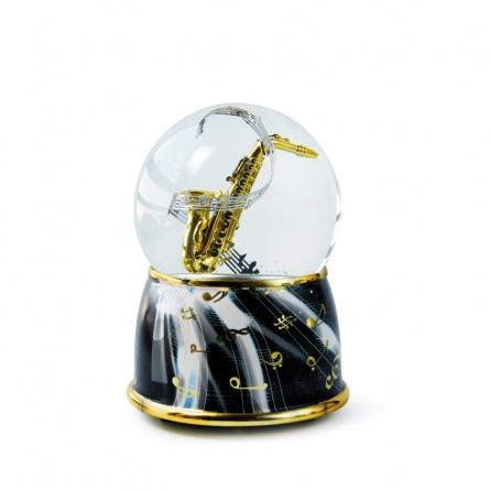 "Glitter globe ""Saxophone"""