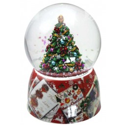 Globe Christmas tree red
