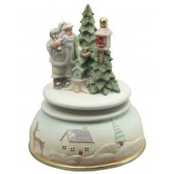 Santa at the birdhouse