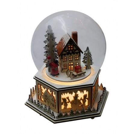 Snow globe village