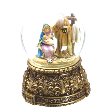 Sphere nativity scene with fence