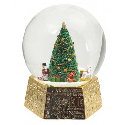 Golden Snowglobe with tree