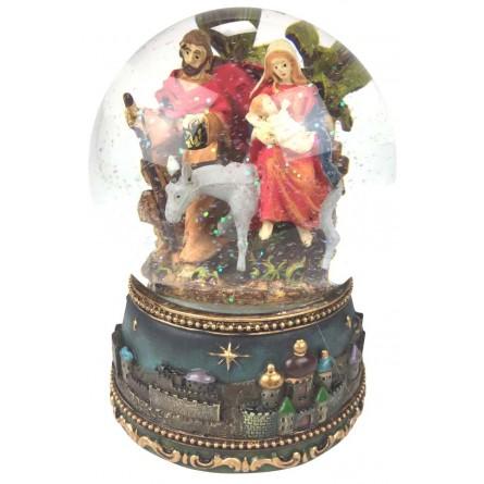 Snow globe with Nativity donkey