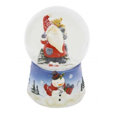 Snowglobe Santa with Teddy
