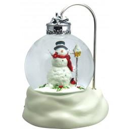 Globe Lantern Snowman