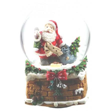 Snow globe Santa with scarf