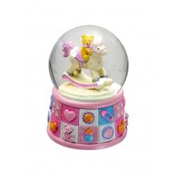 "Glitter globe ""bears"" rose"