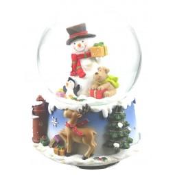 Globe Snowman & Dog