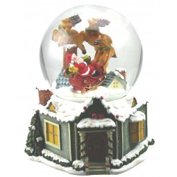 Globe Santa & Reindeer sligh