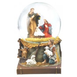 Globe Crib scene on a book