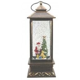 Square lantern Santa