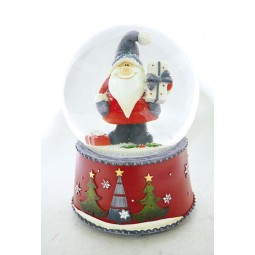 Globe Santa with gray cap