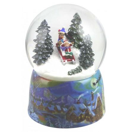Snow globe sleigh ride