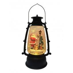 Round Lantern with Santa scene
