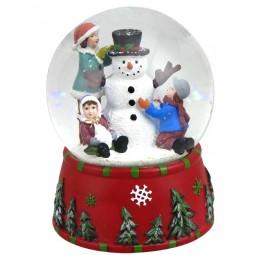 Globe big snowman