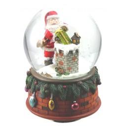 Globe Santa at the chimney