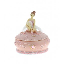 Pink jewelry box with ballerina