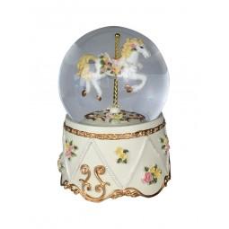 Glitter globe with carousel horse
