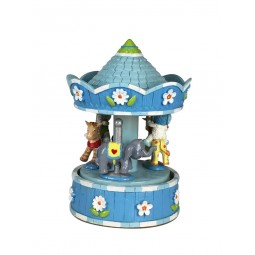Blue carousel with bears and animals