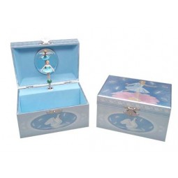 Jewelry music box swan ballerina