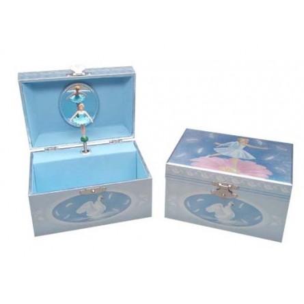 Jewelry music box swan ballerina