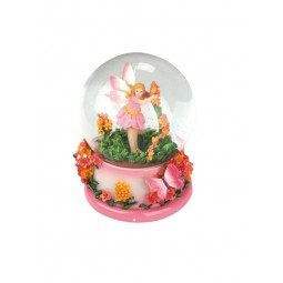 Glitter water globe flower fairy