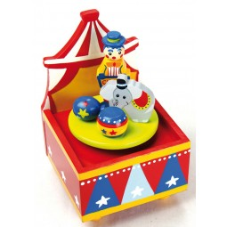 Wooden music box circus