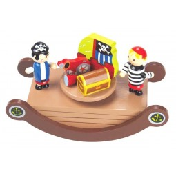Wooden pirate see-saw