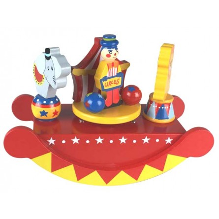 Wooden circus see-saw