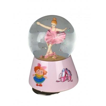 Glitter water globe ballerina
