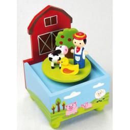 Wooden music box farm