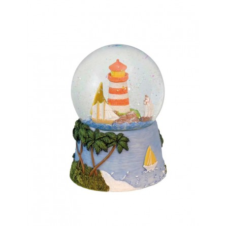 Glitter globe lighthouse