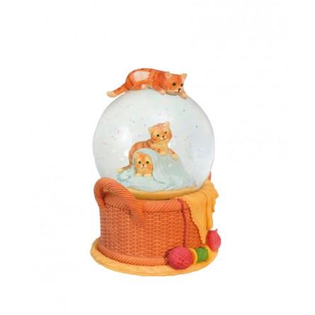 Glitter globe cats