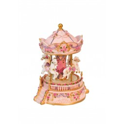 Carousel pink with flowers