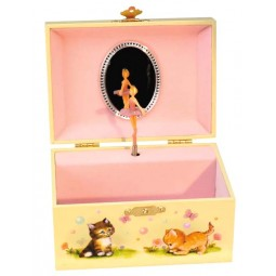 Jewelry musical box baby cats