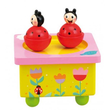 Wooden lady bugs