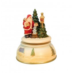 "Musicbox ""Santa at the bird house"""