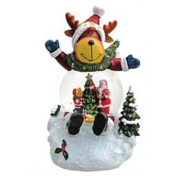 """Snowglobe """"Reindeer"""" with illumination"""