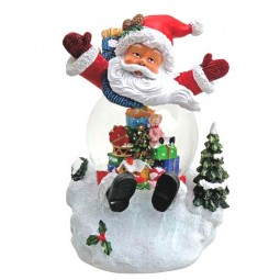 "Snowglobe ""Santa"" with illumination"