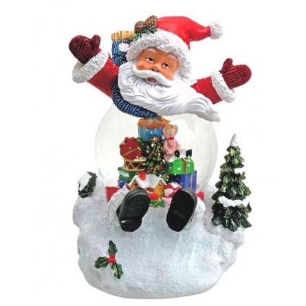 """Snowglobe """"Santa"""" with illumination"""